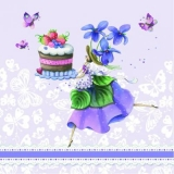 Frau, Schmetterlinge, Kuchen, Obst, Spitze - Cake, Woman, Butterflies, Violets, Lace - Gâteau, femme, papillons, violettes, dentelle