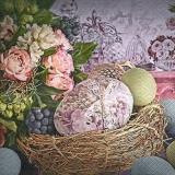Nostalgisches Ostereiernest - Nostalgic easter egg nest - Nid doeuf de Pâques nostalgique