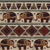 Afrikanisches Muster & Elefanten - African pattern & elphants - Motif africain et éléphants