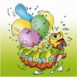 Lustige Raupe Nimmersatt - Funny caterpillar - Gaiement, la petite chenille