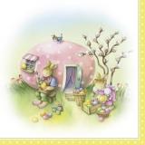 Zu Hause bei Familie Osterhase - At home with the Easter Bunny family - À la maison avec la famille de lapin de Pâques