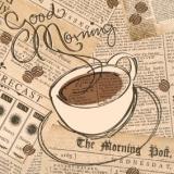 Morgenzeitung & Kaffee - Morning newspaper & coffee - Journal du matin et café