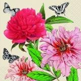 Volle Blüten & 3 Schmetterlinge - Full flowers & 3 butterflies - Fleurs complètes et 3 papillons