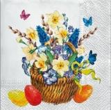 Blumenkorb & Ostereier - Flower basket & Eatser eggs - Panier de fleurs et oeufs de Pâques