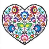 Herz voller Blumen im Landhausstil - Heart full of flowers in country style - Coeur plein de fleurs dans le style campagnard