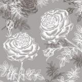 Schimmernde Rosen, grau - Shining roses, grey - Roses brillantes, gris