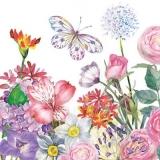 Zarter Schmetterling im Blumengarten - Delicate butterfly in the flower garden - Papillon délicat dans le jardin de fleurs
