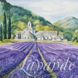 Haus vor einem Lavendelfeld in der Provence - House in front of a lavender field in Provence - Maison en face dun champ de lavande en Provence