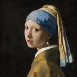 Maler Jan Vermeer van Delft,  Johannes Vermeer: Das Mädchen mit dem Perlenohrgehänge  - Girl with a Pearl Earring - La Jeune Fille à la perle