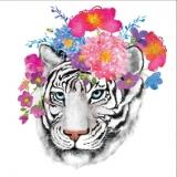 Tiger & Blumen - Tiger & Flowers -Tigre et fleurs