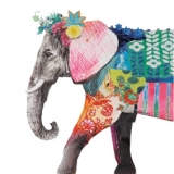 bunter Elefant - colorful elephant - éléphant coloré