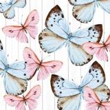 Rosa & blaue Schmetterlinge - pink & blue butterflies - Papillons roses et bleus
