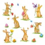 Ostereier & 7 süsse Osterhasen - Easter eggs & 7 cute Easter bunnies - Oeufs de Pâques et 7 mignons lapins de Pâques