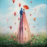 Paar mit Schirm - Couple with Umbrella - Couple avec parapluie
