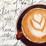 Kaffe mit schönem Milchschaum, Cappuccino - Coffee with nice milk froth, cappuccino - Café avec une belle mousse de lait, cappuccino