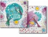 3 Blumen-Vögel - 3 Flower-Birds - 3 oiseaux de fleurs