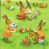 3 Häschen bemalen Eier - 3 bunnies paint eggs - 3 lapins peignent des oeufs