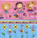 3 niedliche Mädchen mit Taschen - 3 cute girls with bags - 3 jolies filles avec des sacs