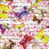 bunte Schmetterlinge auf zarten Blüten, Geschriebenes - colorful butterflies on delicate blossoms, written - papillons colorés sur les fleurs délicates, écrit