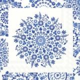 Blumenmuster weiss & blau - Flower pattern white & blue - Motif de fleurs blanc et bleu