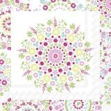 Blumenmuster weiss & pink - Flower pattern white & pink - Motif de fleurs blanc et rose