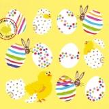 11 Ostereier, 3 Küken & 2 Hasen - 11 Easter eggs, 3 chicks and 2 rabbits - 11 oeufs de Pâques, 3 poussins et 2 lapins