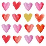 16 kleine Herzen - 16 little hearts - 16 petits coeurs