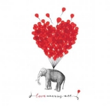Herzluftballons lassen Elefanten fliegen - Heart balloons fly elephants - Les ballons coeur volent les éléphants