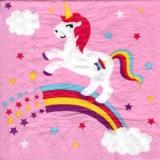 Einhorn auf Regenbogen, lila - Unicorn on a rainbow, purple - Licorne sur un arc-en-ciel, violet