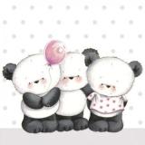 3 süsse Pandababys, Pandabären mit einen Luftballon - 3 cute panda babies, panda bears with a balloon - 3 bébés panda mignons, panda avec un ballon