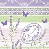 Lavendelzweige und Schmetterlinge auf einen schönen Muster - Lavender branches and butterflies on a beautiful pattern - Branches de lavande et de papillons sur un beau modèle