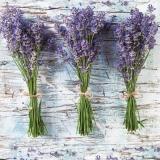 3 Bund Lavendel vor einer Holzwand - 3 bunch of lavender in front of a wooden wall - 3 bouquet de lavande devant un mur en bois