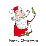 glücklicher Weihnachtsmann - happy Santa Claus - Joyeux Père Noël