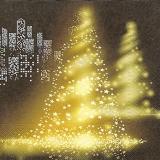 hell erleuchteter Weihnachtsbaum vor einer Skyline - brightly lit Christmas tree in front of a skyline - arbre de Noël illuminé devant une ligne d horizon