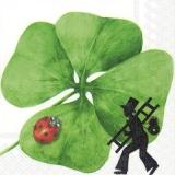 4 blättriges Kleeblatt, Schornsteinfeger & Marienkäfer bringen Glück - 4 leafy cloverleaf, chimney sweep & ladybug bring luck - Trèfle à 4 feuilles, ramoneur et coccinelle apportent de la chance
