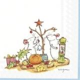 2 Mäuse feiern Weihnachten - 2 mice celebrate Christmas - 2 souris célèbrent Noël