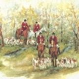 4 Reiter gehen auf die Jagd - 4 riders go hunting - 4 cavaliers partent à la chasse