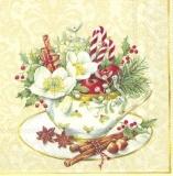 1 Sammeltasse mit weihnachtlichen Accessoires - 1 collection cup with Christmas accessories - 1 tasse de collection avec accessoires de Noël
