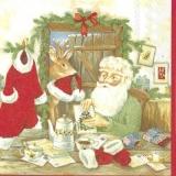beim Weihnachtsmann zu Hause - at Santas home - à la maison du père Noël