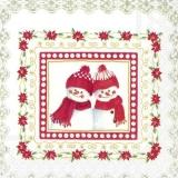 2 Schneemänner mit Schal & Mütze - 2 snowmen with scarf & hat - 2 bonhommes de neige avec écharpe et chapeau