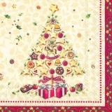Weihnachtsbaum voller Gebäck - Christmas tree full of pastries - Arbre de Noël plein de pâtisseries