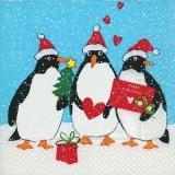 3 Pinguine feiern Weihnachten - 3 penguins celebrate Christmas - 3 pingouins fêtent Noël