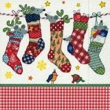 2 kleine Vögel & Mäuse in den Weihnachtssocken - 2 little birds & mice in the Christmas socks - 2 petits oiseaux et souris dans les chaussettes de Noël