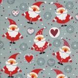 lustige kleine Weihnachtsmänner - funny little Santa Clauses - drôle petit père noël