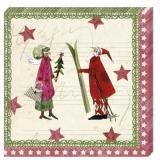 Engel, Weihnachtsmann mit Ski - Angel, Santa Claus with ski - Ange, Père Noël avec ski