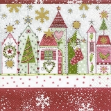 weihnachtlich beschmückte Häuser - festively decorated houses - maisons décorées