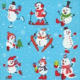 lustige kleine Schneemänner - funny little snowmen - drôle de petits bonhommes de neige