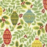 Ilexzweige & Baumschmuck - Ilex branches and tree decorations - Branches d Ilex et décorations d arbre