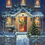 ein Haus, weihnachtlich geschmückt - a house decorated for Christmas - une maison décorée pour Noël