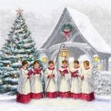 ein singender Chor am Weihnachtsbaum - a singing choir at the Christmas tree - un choeur chantant à l arbre de Noël
